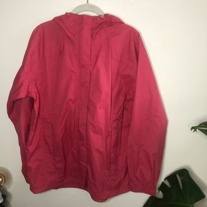 L L Bean Windbreaker Maroon Dark Pink Medium
